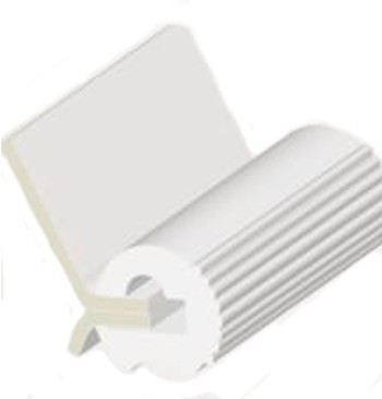 PVC FENDER PROFILE L28 WHITE