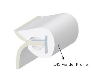 PVC FENDER PROFILE L45