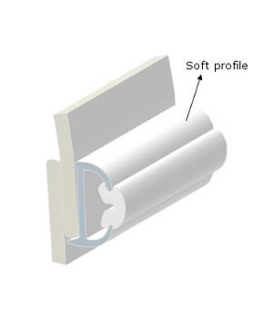 PVC PROFILE TR38-SOFT INSERT