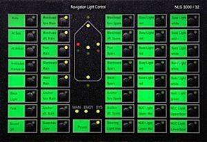 NLS3000 NAV LIGHT PANEL 16LINES 2x24VDC