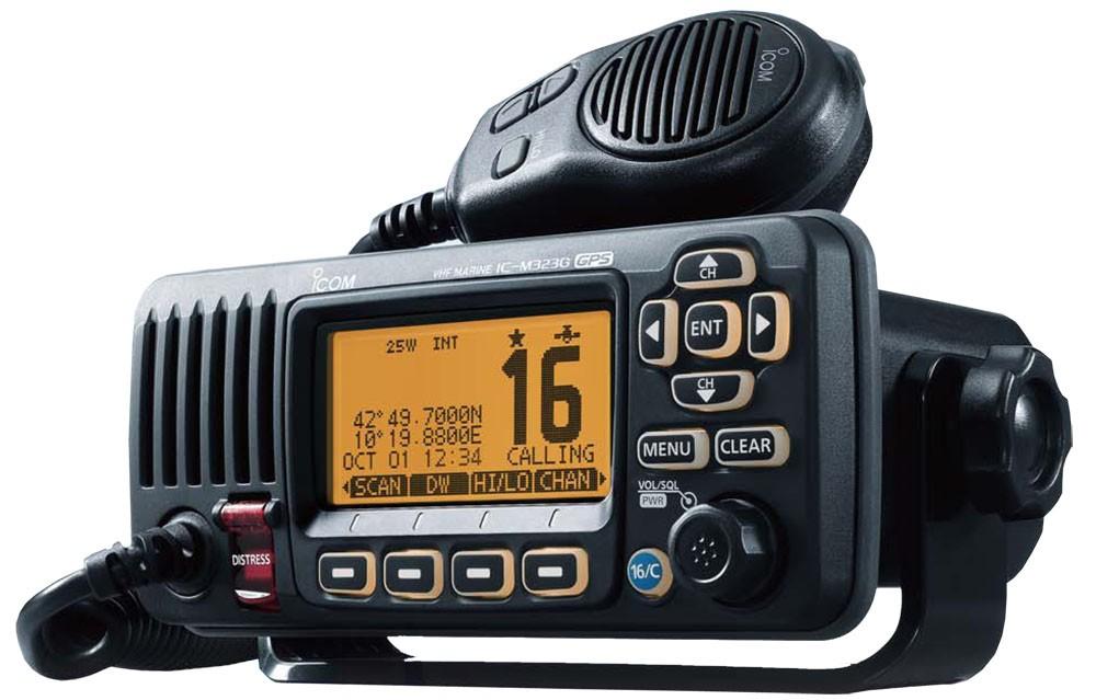 *NLAIC-M323GB VHF TCVR BLACK w/GPS