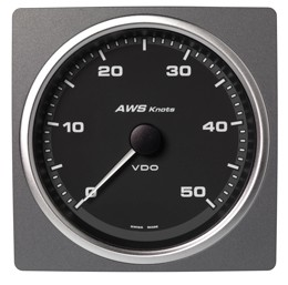 APPARENT WIND SPEED GAUGE BLACK 0-50 KNO