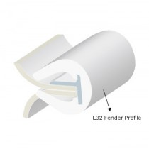 PVC FENDER PROFILE L32 WHITE