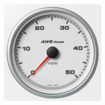 APPARENT WIND SPEED GAUGE WHITE 0-50 KNO