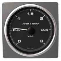 TACHOMETER 3000 RPM BLACK