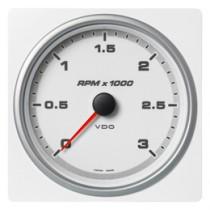 TACHOMETER 3000 RPM WHITE