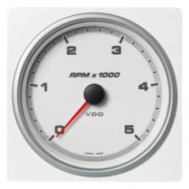 TACHOMETER 5000 RPM WHITE
