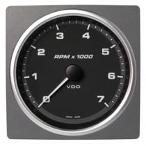 TACHOMETER 7000 RPM BLACK