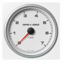 TACHOMETER 7000 RPM WHITE