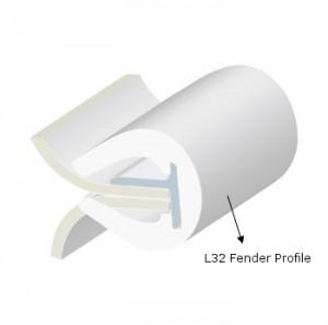PVC FENDER PROFILE L32 WHITE