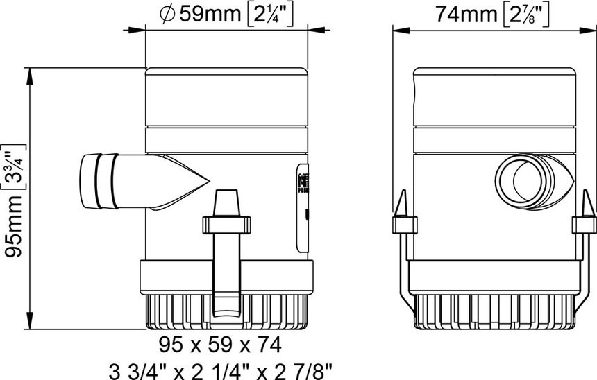 UP500 12V SUBMERSIBLE PUMP 32 L/MIN
