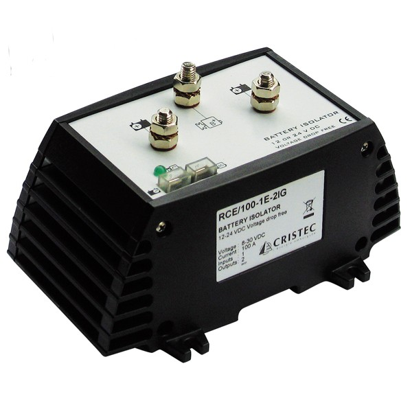BATTERY ISOLATOR 100A/1 INPUT - 2 BANKS