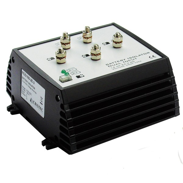 BATTERY ISOLATOR 100A/2 INPUTS - 3 BANKS