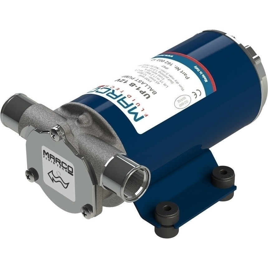 UP1-B 12V BALLAST PUMP WITH RUBBER IMPEL