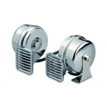 HORNS SET 12V CHROME MT2