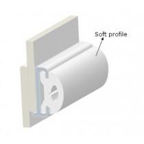 PVC PROFILE TR40-SOFT INSERT-WHITE