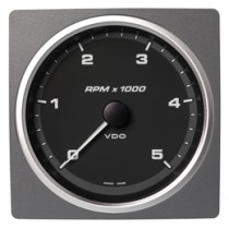 TACHOMETER 5000 RPM BLACK