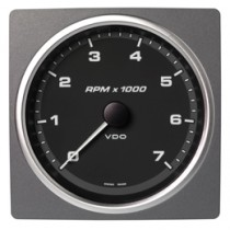 TACHOMETER 7000 RPM BLACK