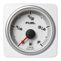 FUEL LEVEL GAUGE E-F WHITE