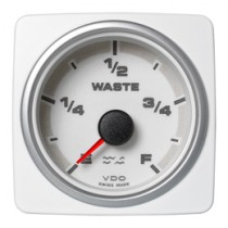 WASTE WATER GAUGE E-F WHITE