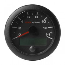 OL GPS SPEEDO 0-14 KNOTS/KMH/MPH BLACK