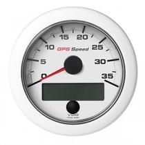 OL GPS SPEEDO 0-35 KNOTS/KMH/MPH WHITE