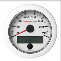 OL GPS SPEEDO 0-70 KNOTS/KMH/MPH WHITE