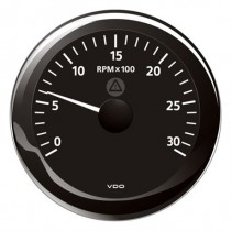 TACHOMETER BLACK 3000 RPM 8-32V