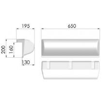 MBF150 MARINA BUMPER WHITE 650X200X130
