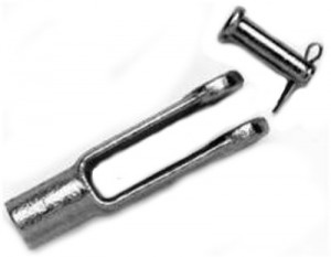 """3/16"""" FEMALE CLEVIS 1/4"""" PIN"""