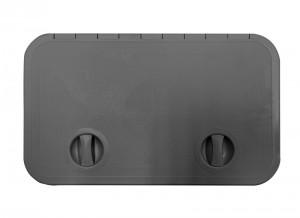 SOPAC HATCH LGE DARK GREY 595x355mm