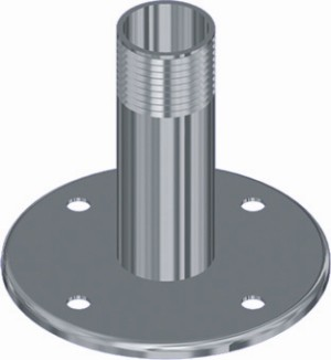 "SS FLANGE DECK MNT 1"" GASS THREADED"